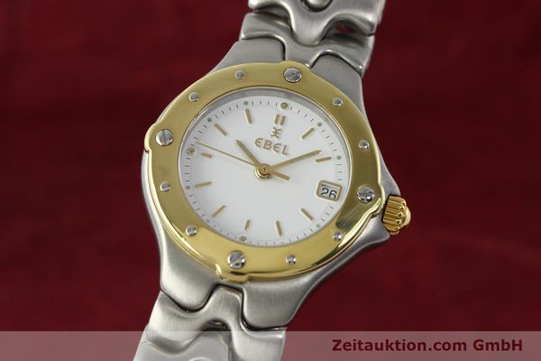 Used luxury watch Ebel Sportwave steel / gold quartz Kal. 87 Ref. 6087621  | 142487 04