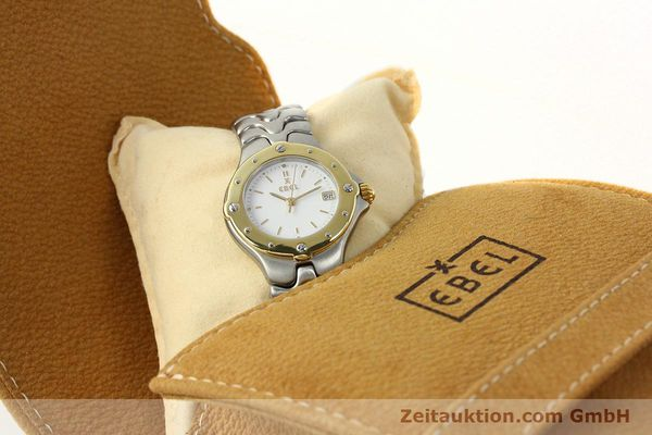 Used luxury watch Ebel Sportwave steel / gold quartz Kal. 87 Ref. 6087621  | 142487 07