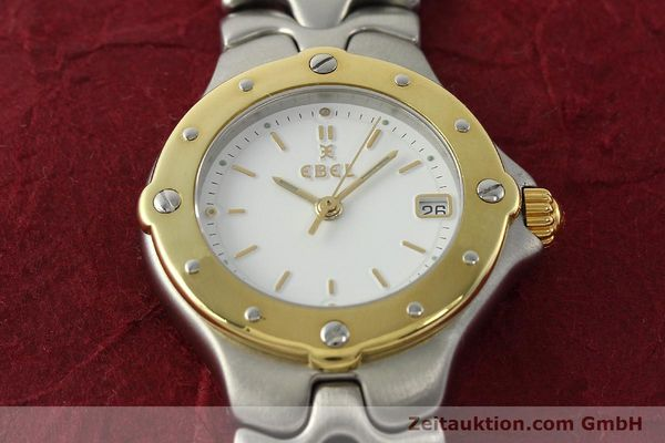Used luxury watch Ebel Sportwave steel / gold quartz Kal. 87 Ref. 6087621  | 142487 15