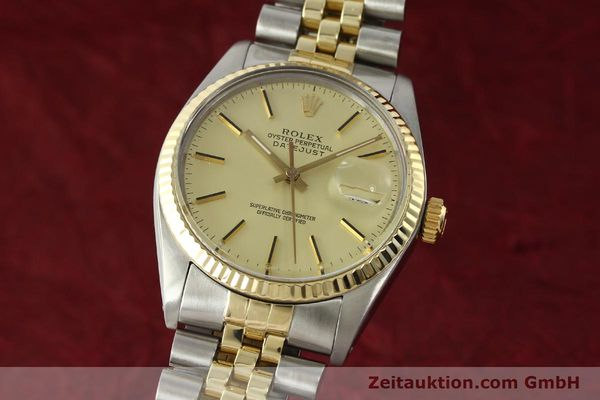 montre de luxe d occasion Rolex Datejust acier / or  automatique Kal. 3035 Ref. 16013  | 142488 04