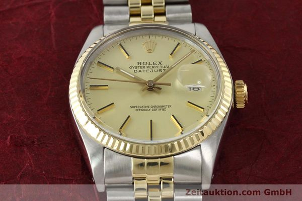 montre de luxe d occasion Rolex Datejust acier / or  automatique Kal. 3035 Ref. 16013  | 142488 17