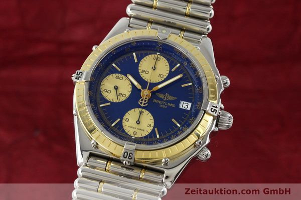 Used luxury watch Breitling Chronomat chronograph steel / gold automatic Kal. B13 ETA 7750 Ref. D13048  | 142493 04