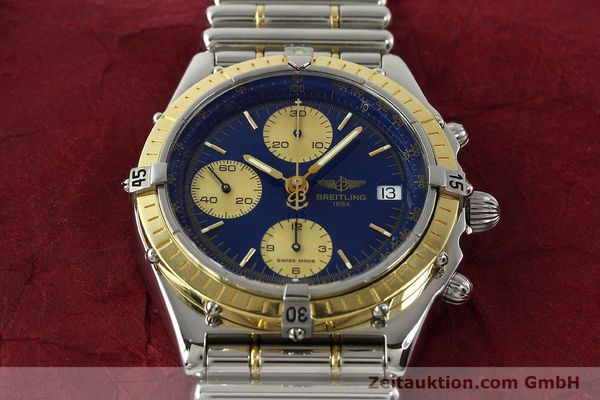 Used luxury watch Breitling Chronomat chronograph steel / gold automatic Kal. B13 ETA 7750 Ref. D13048  | 142493 14