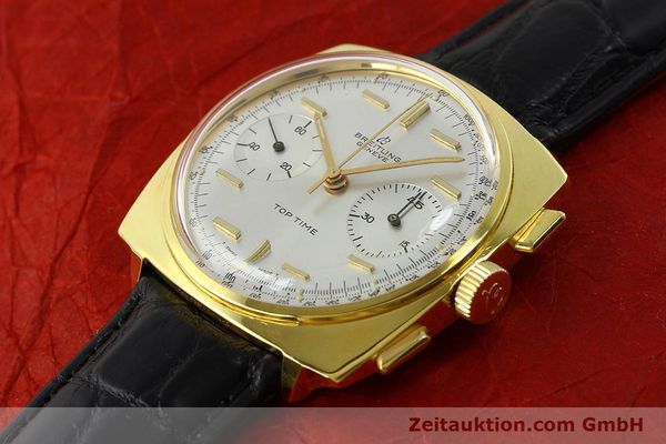 Used luxury watch Breitling Top Time chronograph gold-plated manual winding Kal. Venus 188 Ref. 2008  | 142494 01
