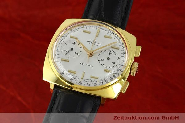 Used luxury watch Breitling Top Time chronograph gold-plated manual winding Kal. Venus 188 Ref. 2008  | 142494 05