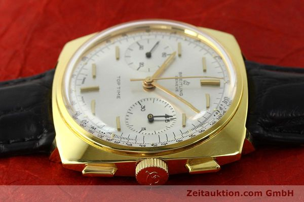 Used luxury watch Breitling Top Time chronograph gold-plated manual winding Kal. Venus 188 Ref. 2008  | 142494 06