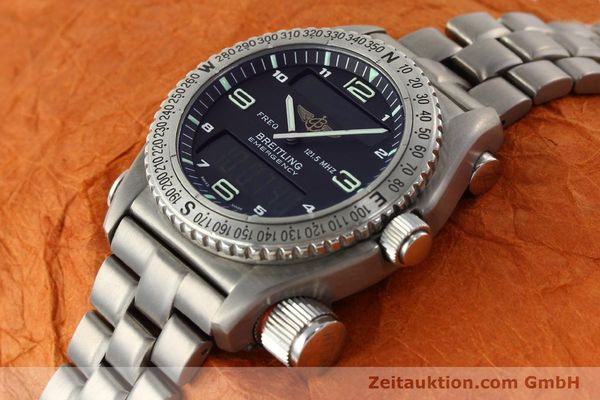 Used luxury watch Breitling Emergency titanium quartz Kal. B56 Ref. E56121.1  | 142498 01