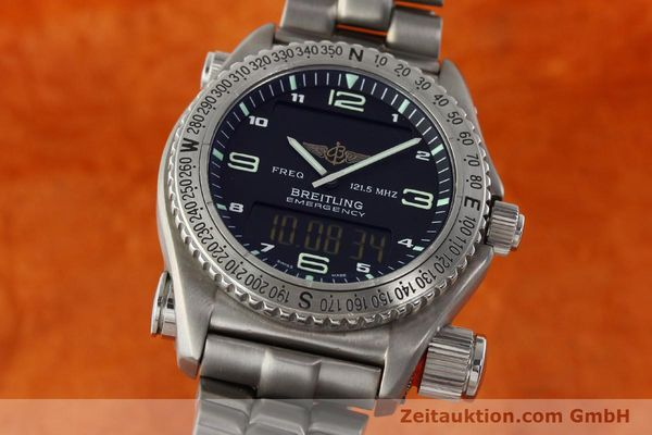 Used luxury watch Breitling Emergency titanium quartz Kal. B56 Ref. E56121.1  | 142498 04