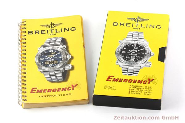 Used luxury watch Breitling Emergency titanium quartz Kal. B56 Ref. E56121.1  | 142498 11