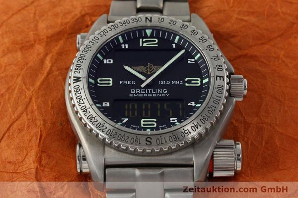 Used luxury watch Breitling Emergency titanium quartz Kal. B56 Ref. E56121.1  | 142498 15