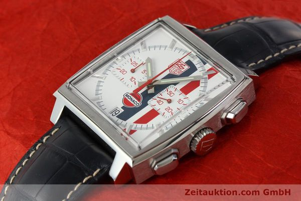 Used luxury watch Tag Heuer Monaco chronograph steel automatic Kal. ETA 2894-2 Ref. CW2118 LIMITED EDITION | 142499 01