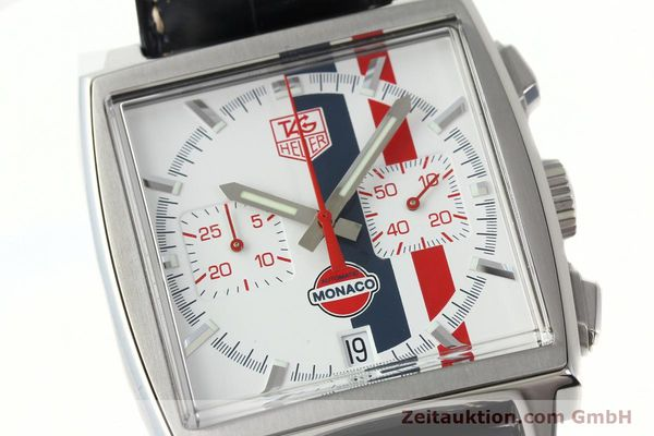 Used luxury watch Tag Heuer Monaco chronograph steel automatic Kal. ETA 2894-2 Ref. CW2118 LIMITED EDITION | 142499 02