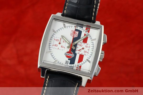 Used luxury watch Tag Heuer Monaco chronograph steel automatic Kal. ETA 2894-2 Ref. CW2118 LIMITED EDITION | 142499 04