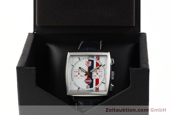 Used luxury watch Tag Heuer Monaco chronograph steel automatic Kal. ETA 2894-2 Ref. CW2118 LIMITED EDITION | 142499 07