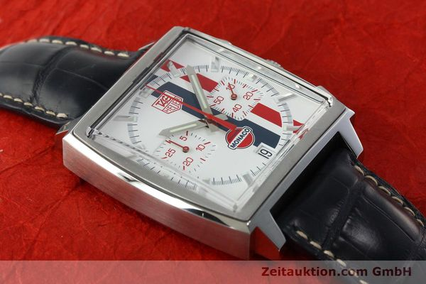 Used luxury watch Tag Heuer Monaco chronograph steel automatic Kal. ETA 2894-2 Ref. CW2118 LIMITED EDITION | 142499 14