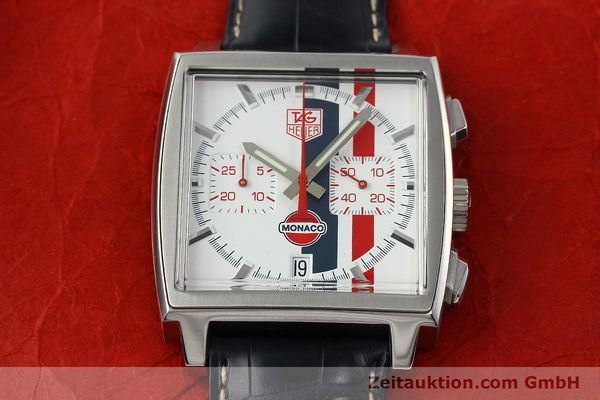 Used luxury watch Tag Heuer Monaco chronograph steel automatic Kal. ETA 2894-2 Ref. CW2118 LIMITED EDITION | 142499 15