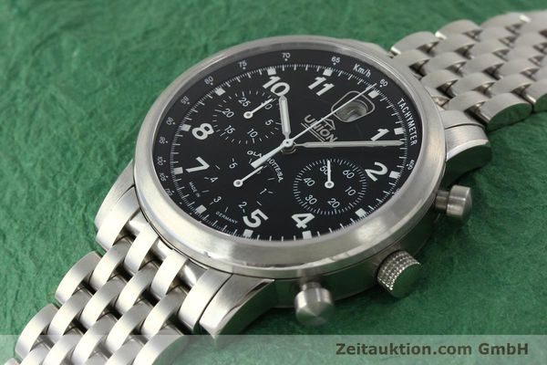 Used luxury watch Union Glashütte Klassik chronograph steel automatic Kal. 26 Ref. 26-32005510  | 142502 01