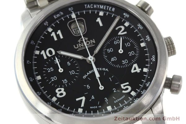 Used luxury watch Union Glashütte Klassik chronograph steel automatic Kal. 26 Ref. 26-32005510  | 142502 02