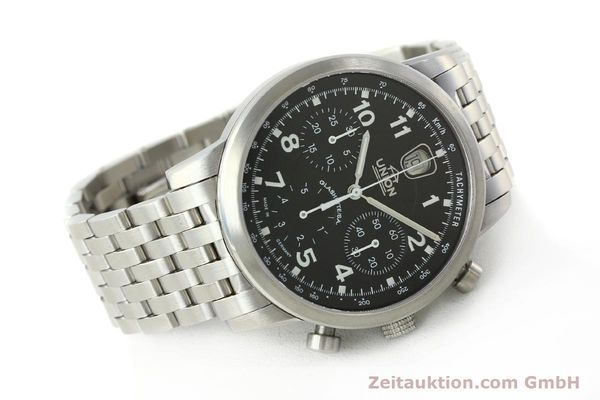 Used luxury watch Union Glashütte Klassik chronograph steel automatic Kal. 26 Ref. 26-32005510  | 142502 03