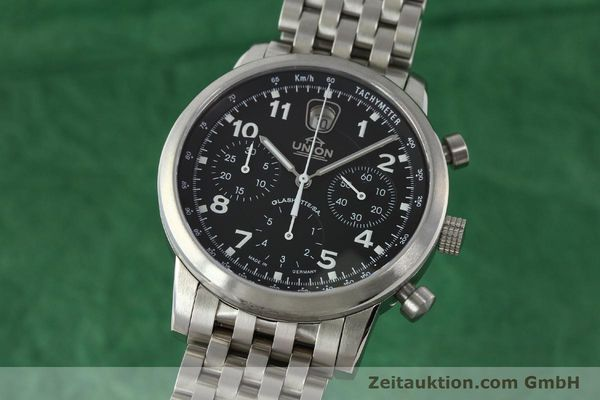 Used luxury watch Union Glashütte Klassik chronograph steel automatic Kal. 26 Ref. 26-32005510  | 142502 04
