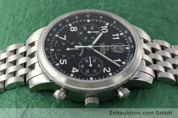 Used luxury watch Union Glashütte Klassik chronograph steel automatic Kal. 26 Ref. 26-32005510  | 142502 05