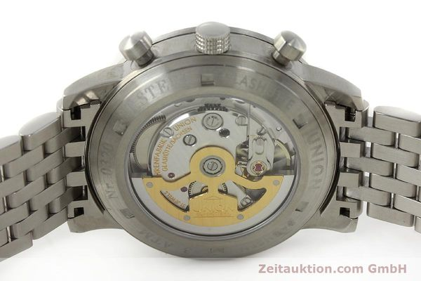 Used luxury watch Union Glashütte Klassik chronograph steel automatic Kal. 26 Ref. 26-32005510  | 142502 09