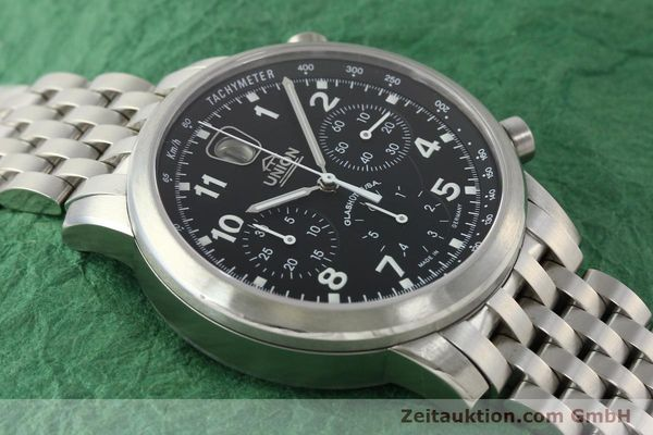 Used luxury watch Union Glashütte Klassik chronograph steel automatic Kal. 26 Ref. 26-32005510  | 142502 16