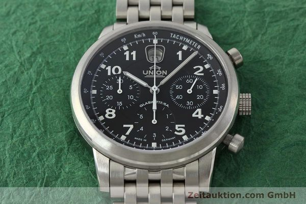 Used luxury watch Union Glashütte Klassik chronograph steel automatic Kal. 26 Ref. 26-32005510  | 142502 17