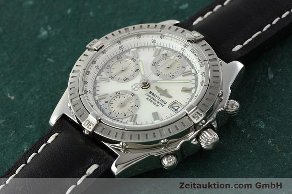 Used luxury watch Breitling Chronomat chronograph steel automatic Kal. B13 ETA 7750 Ref. A13352  | 142511 01