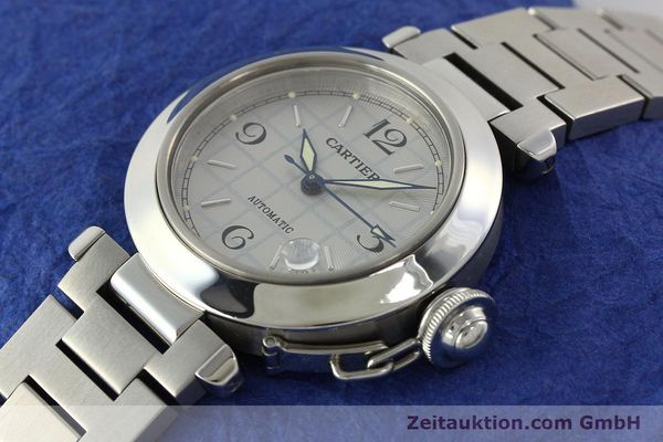 Used luxury watch Cartier Pasha steel automatic Kal. 049 ETA 2892A2  | 142516 01