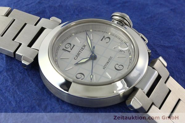Used luxury watch Cartier Pasha steel automatic Kal. 049 ETA 2892A2  | 142516 14