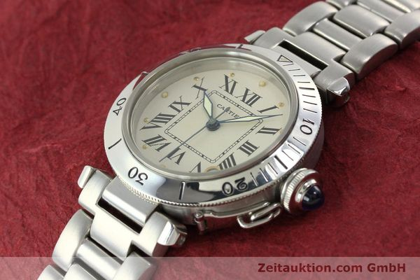 Used luxury watch Cartier Pasha steel automatic Kal. 049 ETA 2892-2  | 142518 01