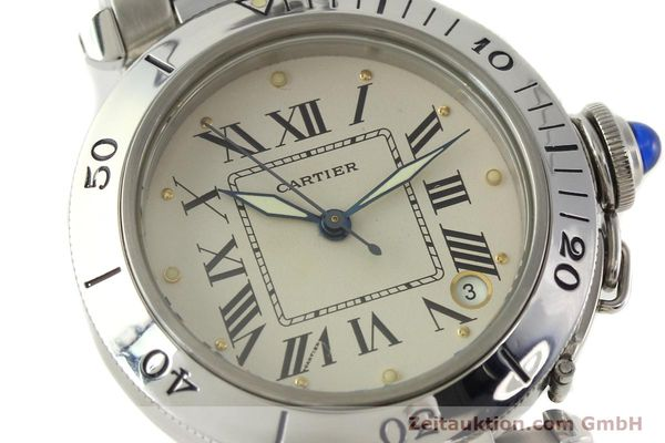 Used luxury watch Cartier Pasha steel automatic Kal. 049 ETA 2892-2  | 142518 02