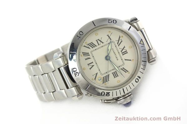 Used luxury watch Cartier Pasha steel automatic Kal. 049 ETA 2892-2  | 142518 03