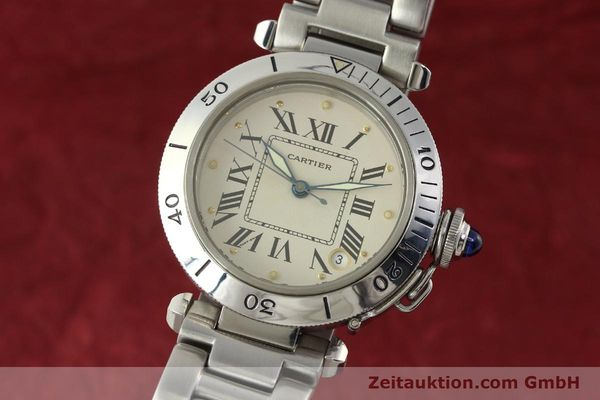 Used luxury watch Cartier Pasha steel automatic Kal. 049 ETA 2892-2  | 142518 04