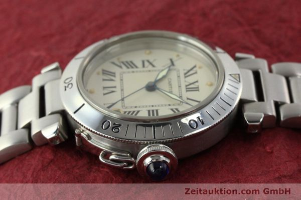 Used luxury watch Cartier Pasha steel automatic Kal. 049 ETA 2892-2  | 142518 05
