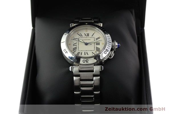 Used luxury watch Cartier Pasha steel automatic Kal. 049 ETA 2892-2  | 142518 07