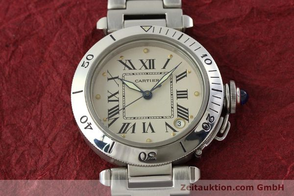 Used luxury watch Cartier Pasha steel automatic Kal. 049 ETA 2892-2  | 142518 15