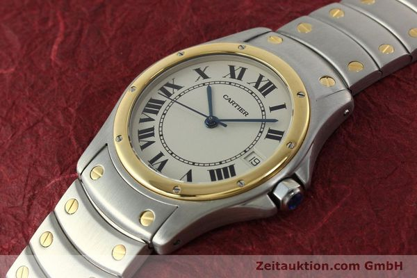 Used luxury watch Cartier Cougar steel / gold automatic Kal. 49 ETA 2892  | 142521 01