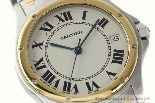 Used luxury watch Cartier Cougar steel / gold automatic Kal. 49 ETA 2892  | 142521 02