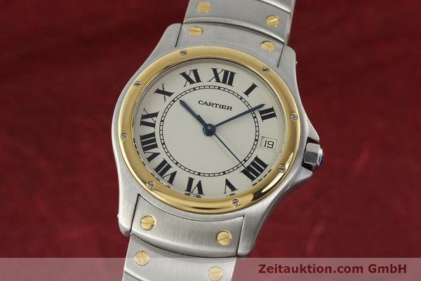 Used luxury watch Cartier Cougar steel / gold automatic Kal. 49 ETA 2892  | 142521 04