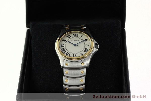Used luxury watch Cartier Cougar steel / gold automatic Kal. 49 ETA 2892  | 142521 07