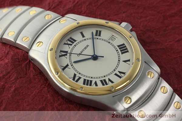 Used luxury watch Cartier Cougar steel / gold automatic Kal. 49 ETA 2892  | 142521 14