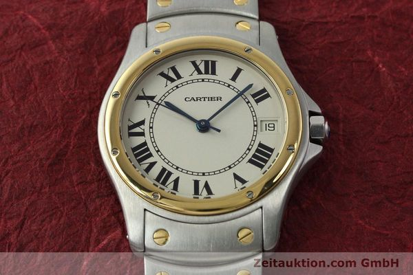 Used luxury watch Cartier Cougar steel / gold automatic Kal. 49 ETA 2892  | 142521 15