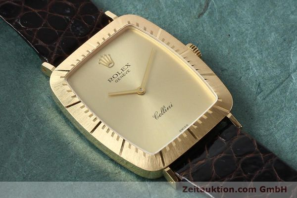 Used luxury watch Rolex Cellini 18 ct gold manual winding Kal. 1601 Ref. 4087  | 142522 14