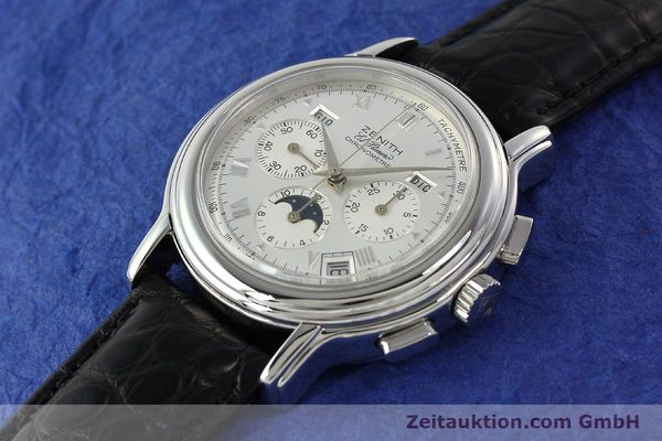 Used luxury watch Zenith Elprimero chronograph steel automatic Kal. 410 Ref. 010240410  | 142524 01