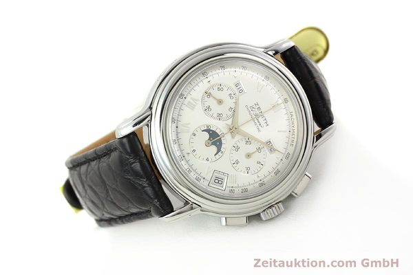 Used luxury watch Zenith Elprimero chronograph steel automatic Kal. 410 Ref. 010240410  | 142524 03