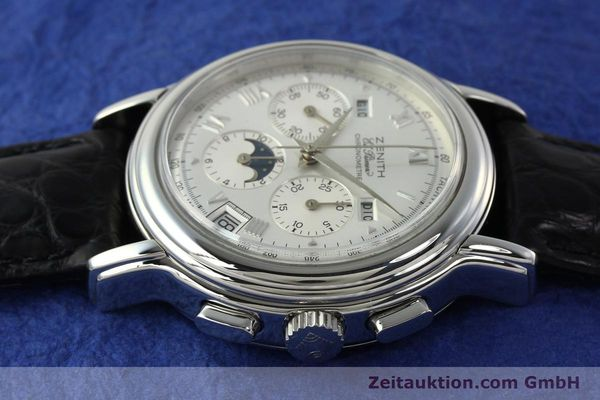 Used luxury watch Zenith Elprimero chronograph steel automatic Kal. 410 Ref. 010240410  | 142524 05