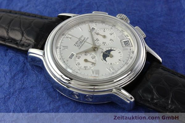 Used luxury watch Zenith Elprimero chronograph steel automatic Kal. 410 Ref. 010240410  | 142524 13