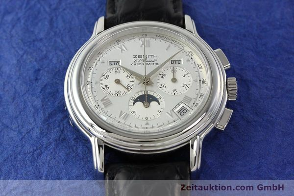 Used luxury watch Zenith Elprimero chronograph steel automatic Kal. 410 Ref. 010240410  | 142524 14